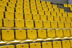 Yellow seat. S in a stadium Royalty Free Stock Photo