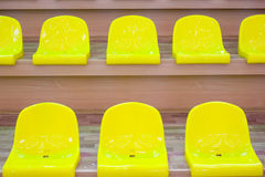 Yellow seats Royalty Free Stock Photos
