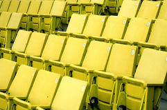 Yellow Seats. Rows of yellow seats with numbers Royalty Free Stock Photography