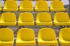 Yellow seats. royalty free stock image