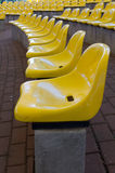 Yellow seats Royalty Free Stock Images