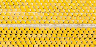 Yellow seats on the podium Royalty Free Stock Image