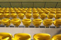 Yellow seats at stadium Stock Photography