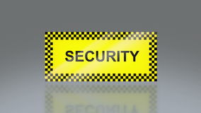 Yellow security signage Royalty Free Stock Photos