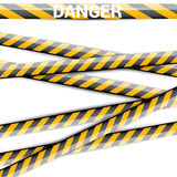 Yellow security warning tapes set Caution Stock Photo