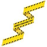 Yellow security warning tapes set Caution Stock Photos