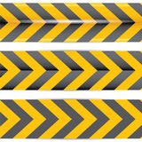 Yellow security warning tapes set Caution Stock Photography