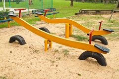 Yellow Seesaw Royalty Free Stock Photo