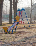 Yellow seesaw Stock Photos