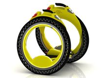Yellow self-balancing electric scooter Royalty Free Stock Photo