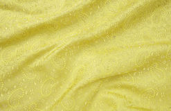 Yellow self designed background cloth Stock Images