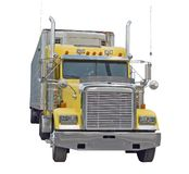 Yellow Semi Truck stock photography