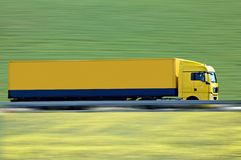 Yellow semi truck Royalty Free Stock Image