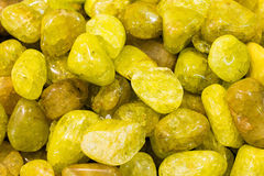 Yellow semiprecious stones Royalty Free Stock Images