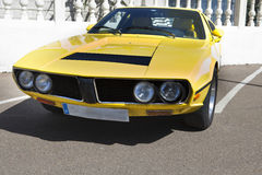 Yellow seventies sports car Stock Images