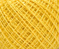 Yellow sewing clew Royalty Free Stock Photo