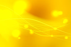 Yellow shades abstract background with light lines Stock Photography