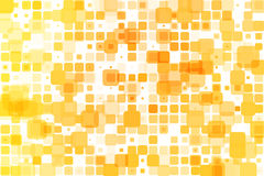 Yellow shades occasional opacity mosaic over white Royalty Free Stock Image