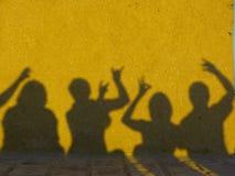 Yellow, Shadow, Art, Wall Stock Image