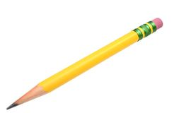 Yellow shape pencil Stock Photos