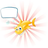 A yellow shark with an empty callout Royalty Free Stock Images