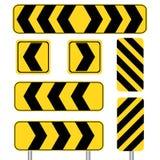 Yellow sharp curve set Stock Image
