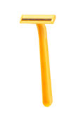 Yellow Shaving Razor isolated on white Stock Images