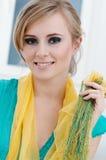Yellow shawl Stock Images