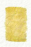 Yellow sheet abstract on white Royalty Free Stock Images