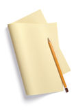 Yellow sheet of paper Stock Photography