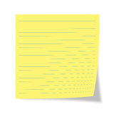 Yellow  sheet Royalty Free Stock Photos
