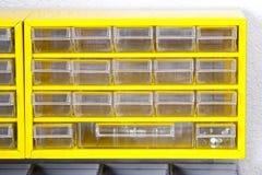 Yellow shelf Royalty Free Stock Image