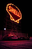 Yellow Shell Neon Signage Royalty Free Stock Photos