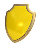 Yellow shield Stock Photo