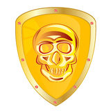 Yellow shield Royalty Free Stock Photography