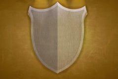Yellow shield. Royalty Free Stock Image