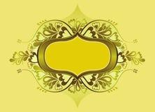 Yellow shield, vector Stock Photos