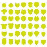 Yellow Shields Stock Photos