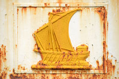 Yellow ship Royalty Free Stock Image