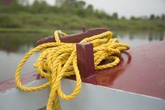 Yellow ship rope Royalty Free Stock Photo
