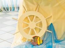Yellow ships wheel Stock Images