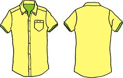 Yellow shirt Stock Photos