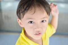 Yellow shirt boy Stock Photography