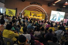 Yellow-Shirt Conference in Bangkok Royalty Free Stock Photography