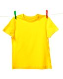 Yellow shirt Royalty Free Stock Images