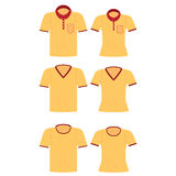 Yellow shirt for men and women. Yellow shirt for men and women, Polo shirts template, T-shirts, fashion design vector illustration Royalty Free Stock Photography