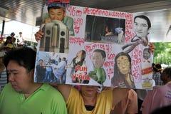 Yellow-Shirt Protest in Bangkok Stock Image