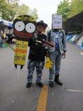 Yellow-Shirt Protest in Bangkok Royalty Free Stock Photos