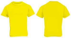 Yellow Shirt Template Royalty Free Stock Image
