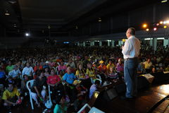 The yellow shirts. Stock Photo